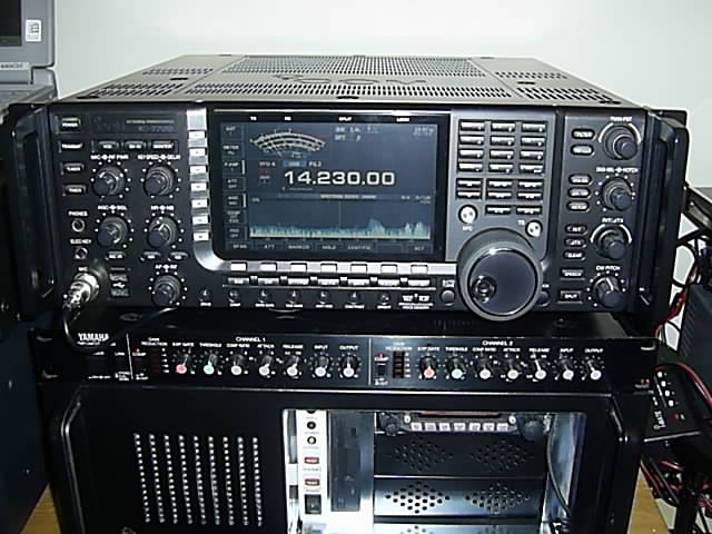 My Icom 7700 on top of the computer/radio for the MB7ICL Echolink Node