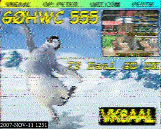 VK6AAL SSTV contact