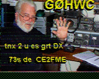 CE2FME SSTV Contact