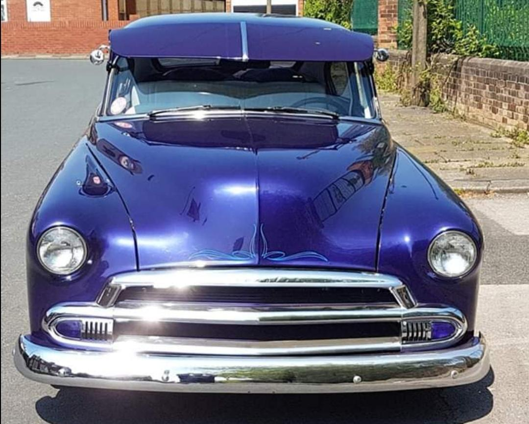 1951 Custom chevy Fleetline front view