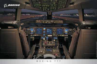 Boeing 777 flight deck