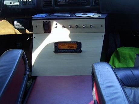 Kenwood D710 in Astro Van