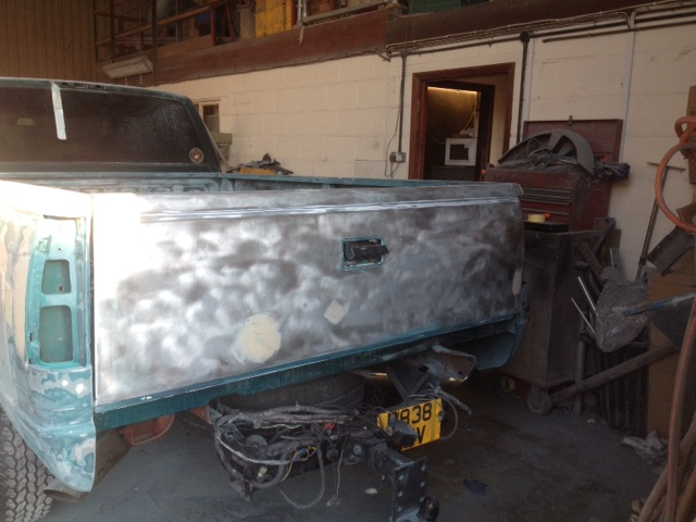 Rear tub on the GMC C3500 needed a lot of work