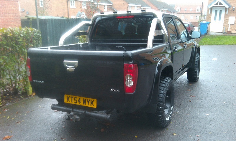 Showing the rear of my Checy Colorado pick-up