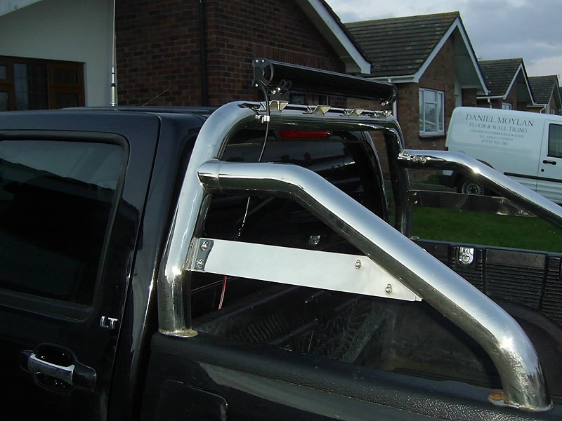 Chevy LED light bar fitted