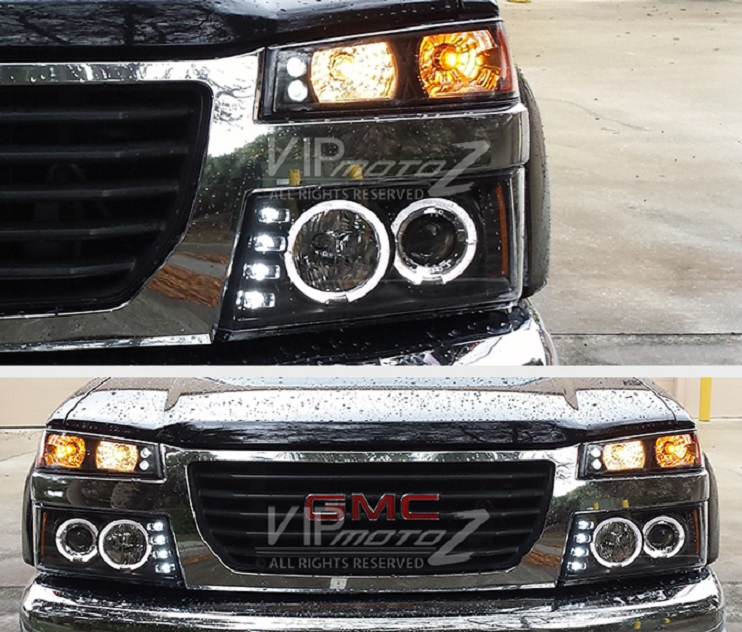 led projector lights fitted to chevy colorado